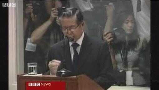 Fujimori defends himself at trial